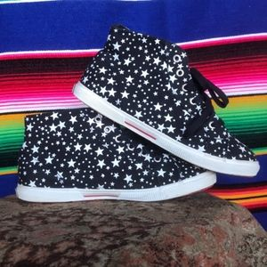 Superga Shoes - Supergra Star High Top Canvas Constellation